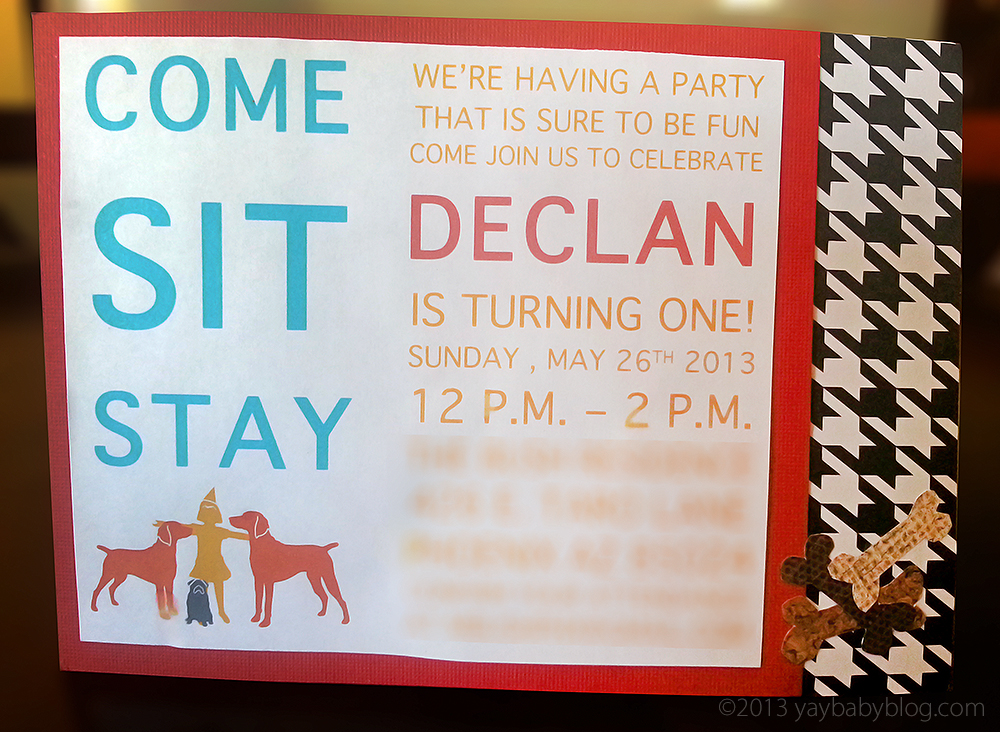 Come. Sit. Stay. A Puppy Themed First Birthday - Yay Baby!
